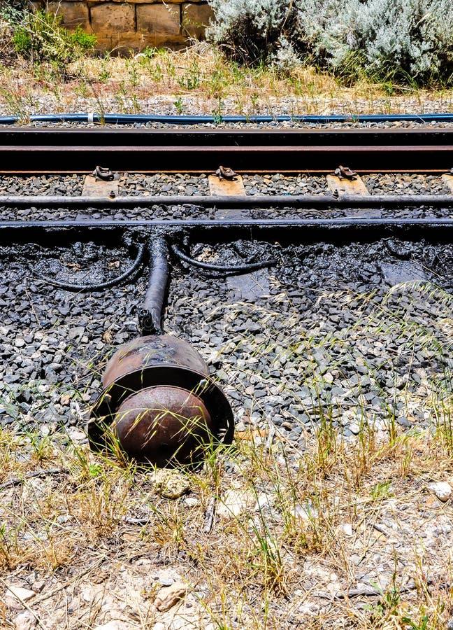 O trem segue a seção imagem de stock royalty free