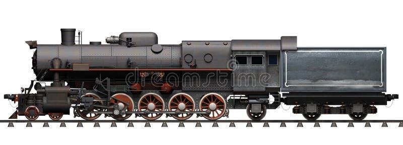 O trem velho do motor de vapor fotografia de stock royalty free