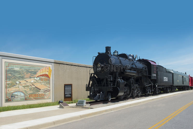 O trem velho do motor de vapor imagem de stock