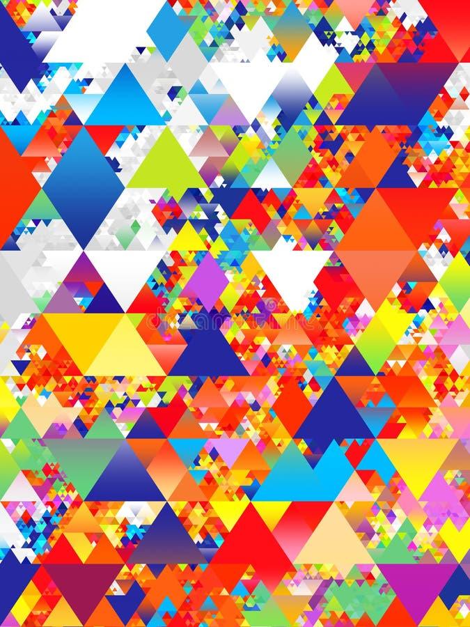 O triângulo abstrato colorido dá forma ao projeto do teste padrão ilustração do vetor