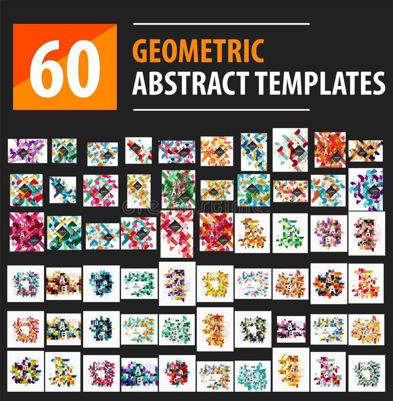 O triângulo mega do grupo circunda fundos geométricos ilustração stock