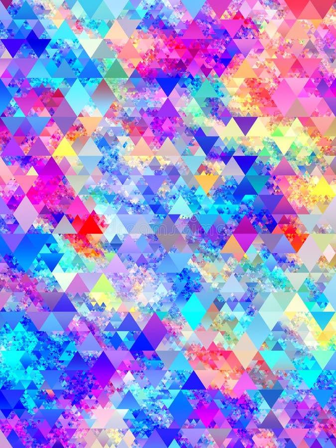 O tri?ngulo abstrato colorido d? forma ao projeto do teste padr?o ilustração royalty free