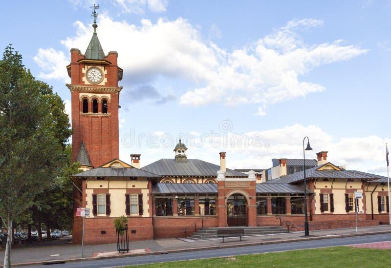 O tribunal de Wagga Wagga, NSW, Austrália foto de stock