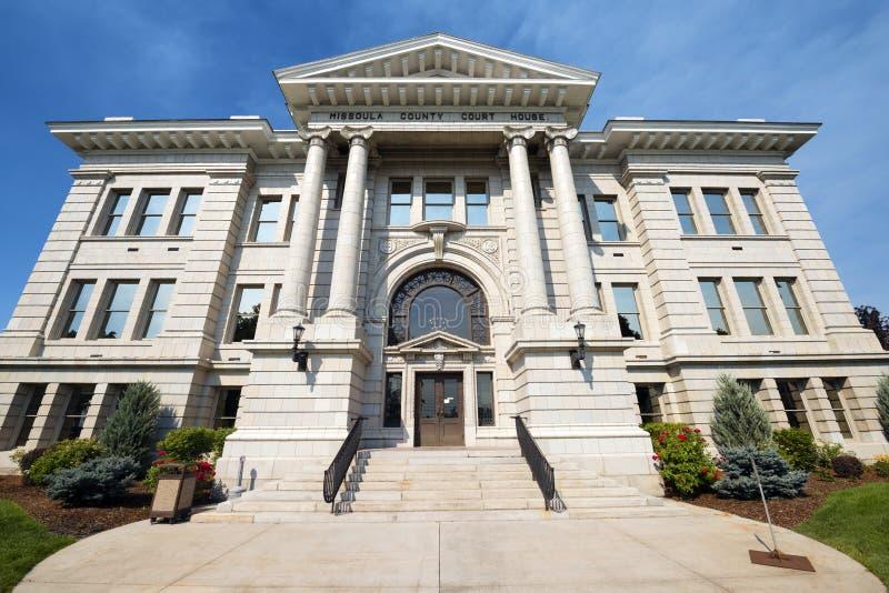O tribunal do condado em Missoula, Montana imagem de stock royalty free
