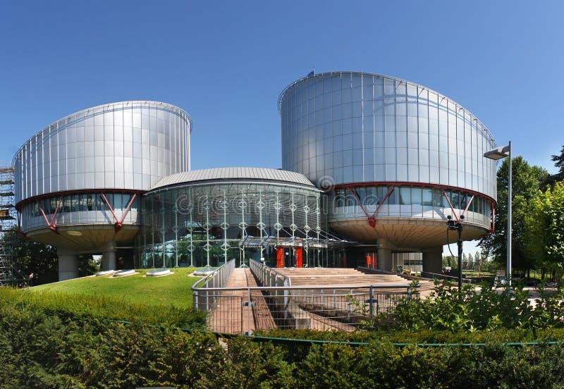 O Tribunal Europeu de Direitos Humanos fotos de stock royalty free