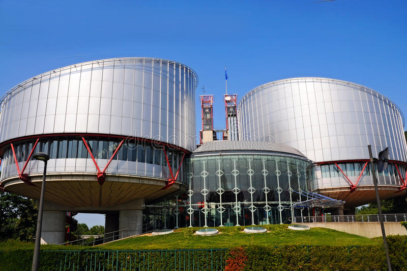 O Tribunal Europeu de Direitos Humanos imagem de stock royalty free