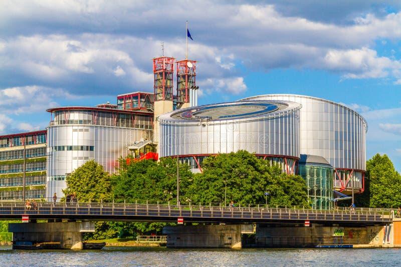 O Tribunal Europeu de Direitos Humanos, Strasbourg, Alsácia, França fotos de stock royalty free