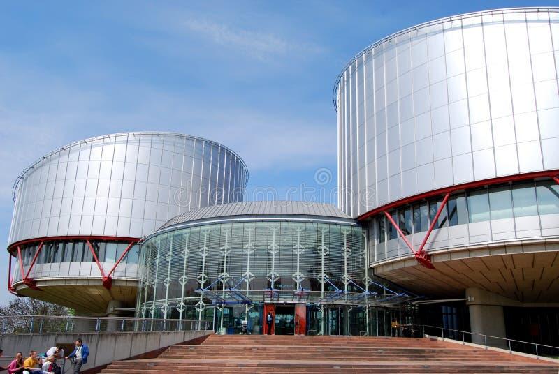 O Tribunal Europeu de Direitos Humanos, Strasbourg, França fotografia de stock