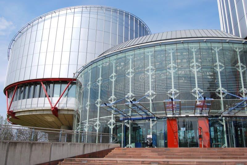 O Tribunal Europeu de Direitos Humanos, Strasbourg, França fotos de stock royalty free