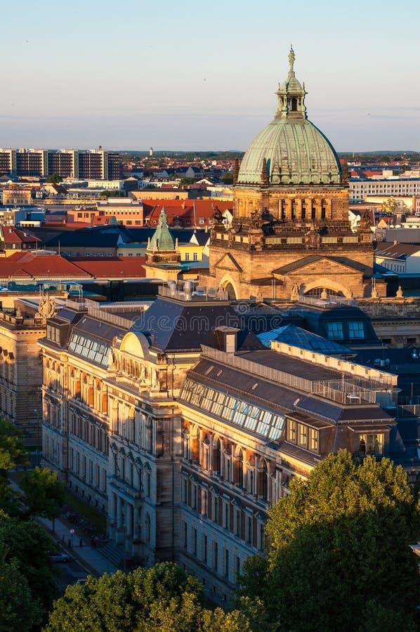 O tribunal federal de Leipzig foto de stock