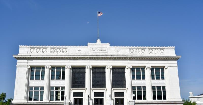 O tribunal municipal meridiano de Mississippi fotografia de stock royalty free