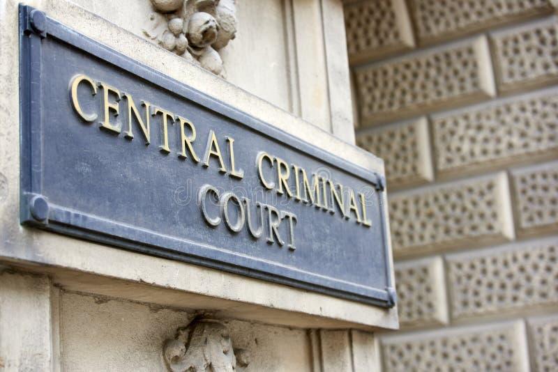 O Tribunal Penal central fotos de stock