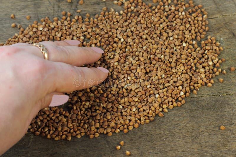 O trigo mourisco útil foto de stock