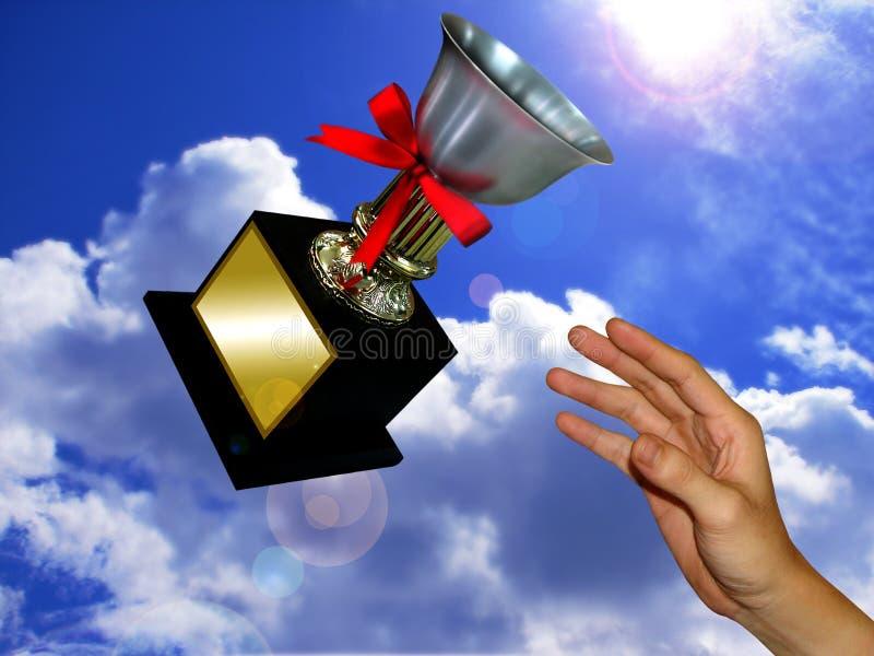 O troféu do vencedor imagens de stock
