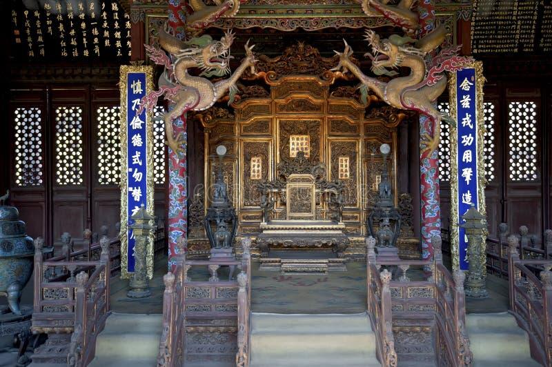 O trono do imperador fotografia de stock