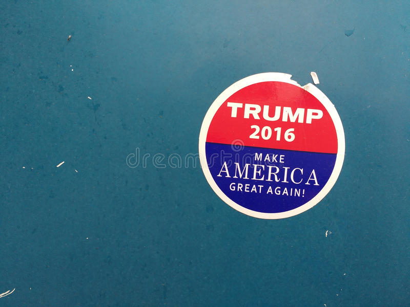 O trunfo faz América grande outra vez, etiqueta da eleição foto de stock