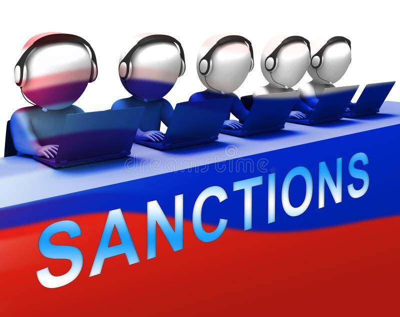 O trunfo Rússia aprova o embargo financeiro na Federação Russa - ilustração 3d ilustração royalty free