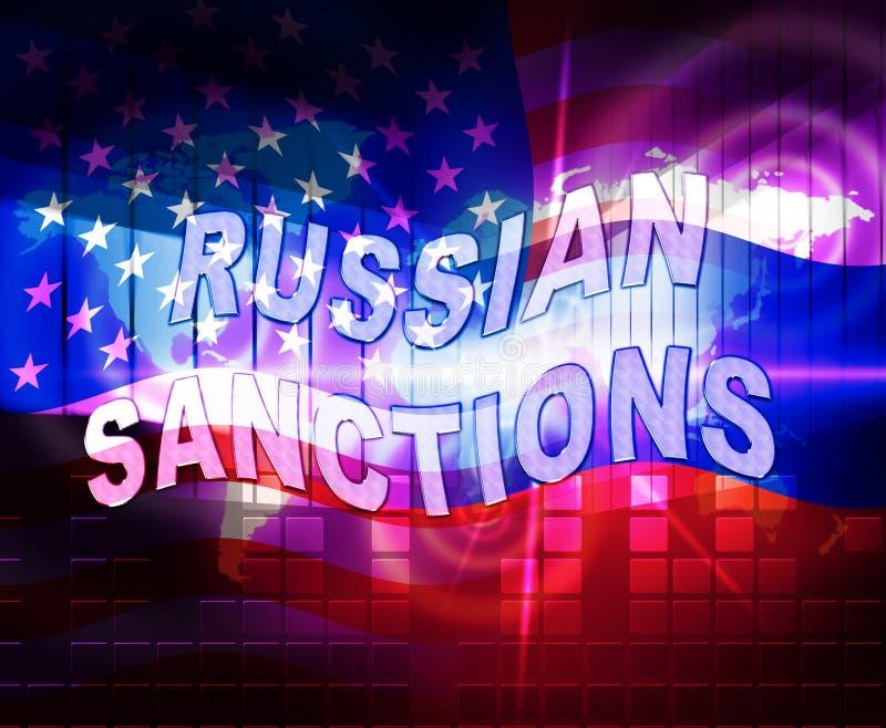 O trunfo Rússia aprova o embargo monetário na Federação Russa - 2d ilustração ilustração stock