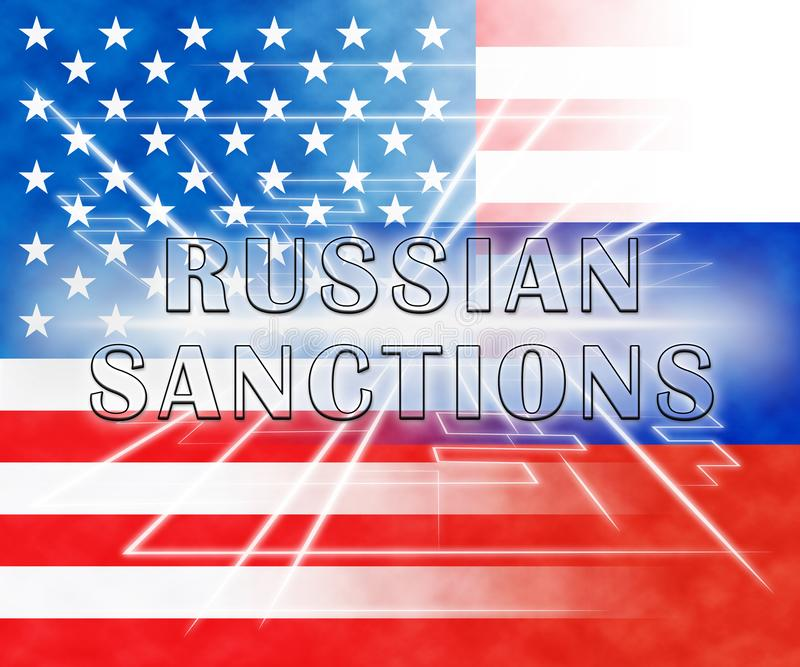 O trunfo Rússia aprova o embargo monetário na Federação Russa - ilustração 3d ilustração do vetor