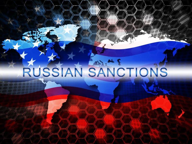 O trunfo Rússia aprova o embargo político na Federação Russa - ilustração 3d ilustração royalty free