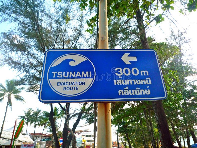 O tsunami assina dentro Tailândia imagens de stock