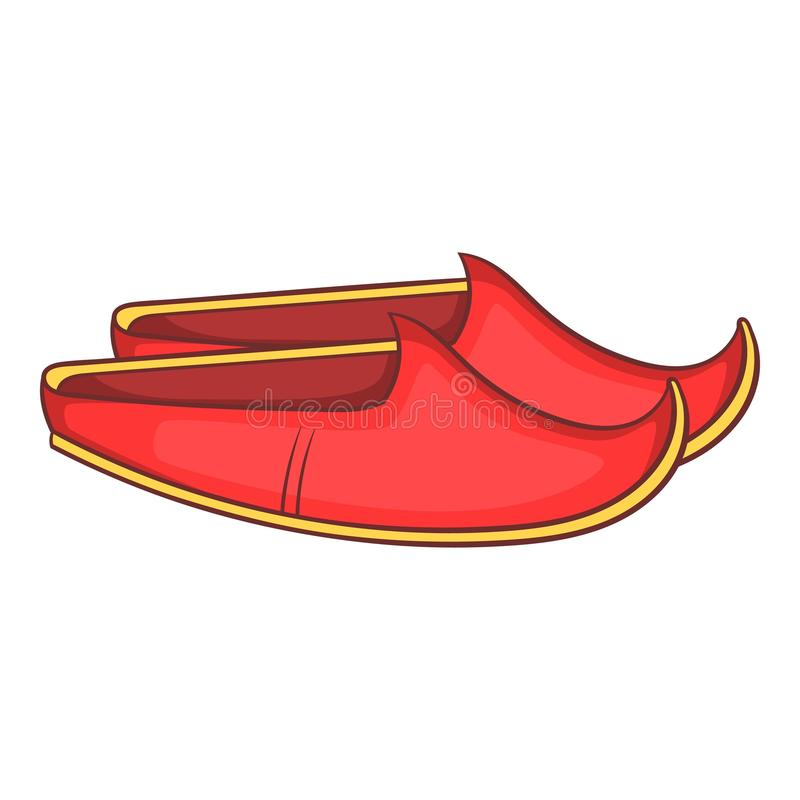 O turco calça o ícone, estilo dos desenhos animados ilustração do vetor