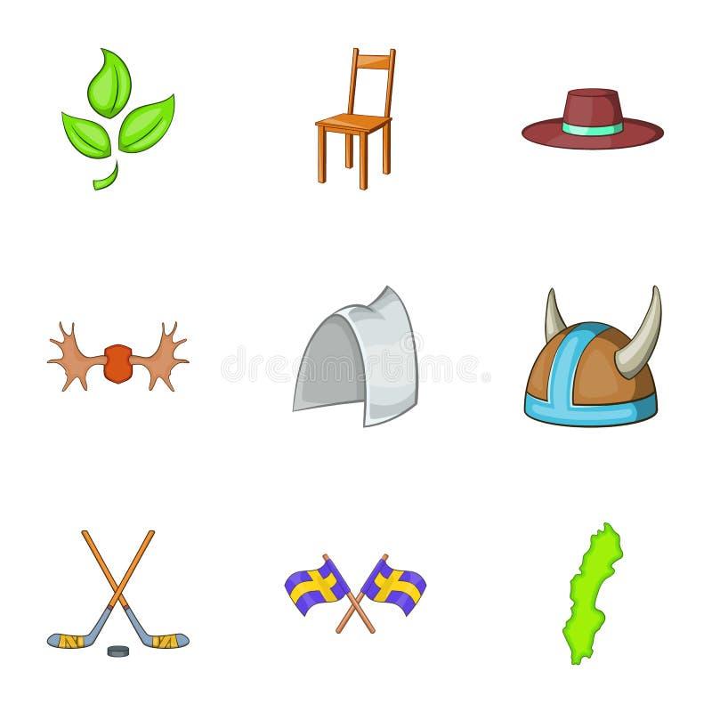 Download O Turismo Em ícones Da Suécia Ajustou-se, Estilo Dos Desenhos Animados Ilustração do Vetor - Ilustração de cadeira, objeto: 80102353