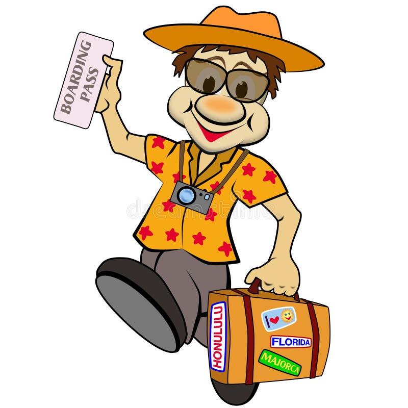 O turista ilustração royalty free