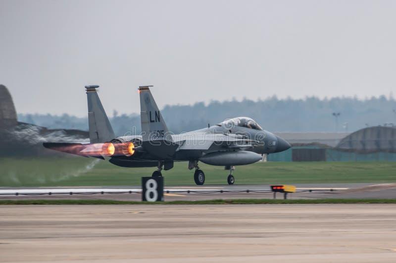 O U.S.A.F. de RAF Lakenheath F-15 jorra foto de stock royalty free