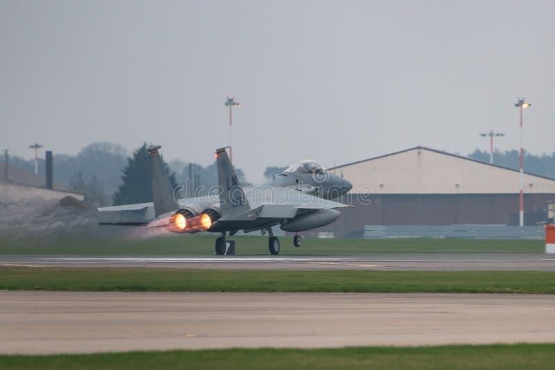 O U.S.A.F. de RAF Lakenheath F-15 jorra foto de stock