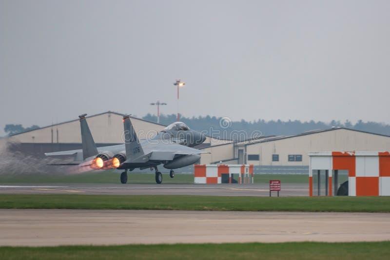 O U.S.A.F. de RAF Lakenheath F-15 jorra fotos de stock