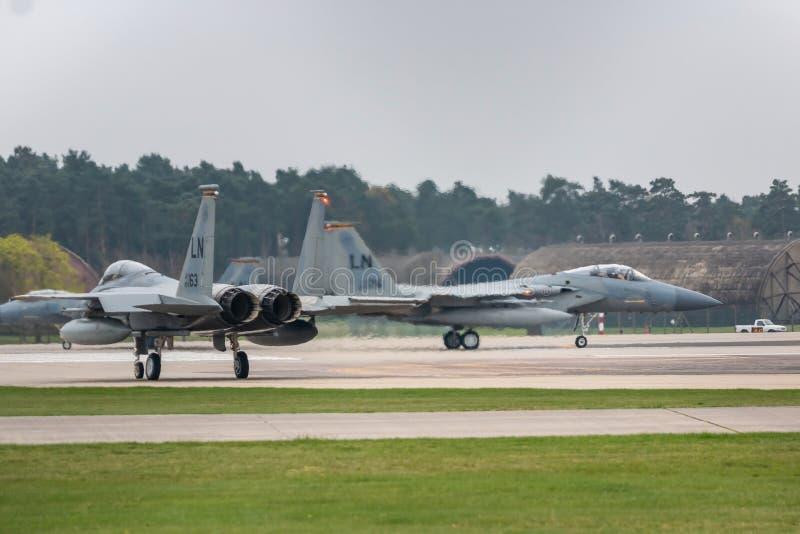 O U.S.A.F. de RAF Lakenheath F-15 jorra fotos de stock royalty free