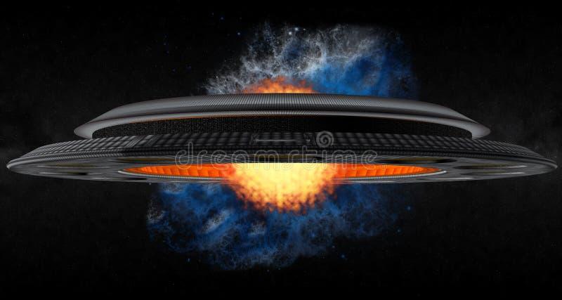 O UFO de Termonuclear ilustração stock