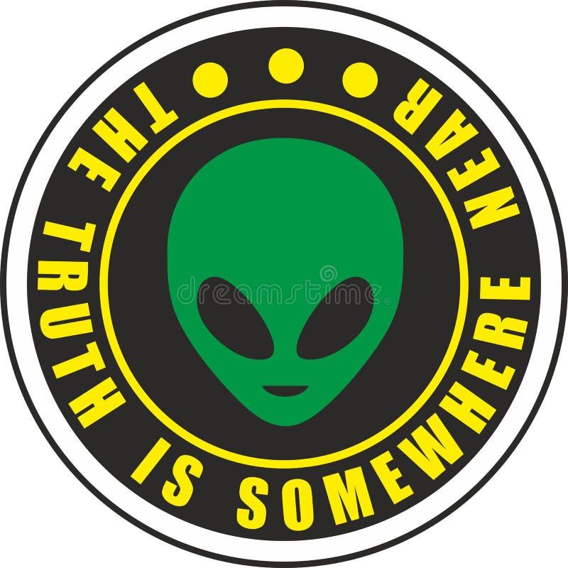 O UFO verde estrangeiro da ilustração reen o espaço que marciano engraçado da vida de fantasia do voo do scifi do navio dos carát ilustração royalty free
