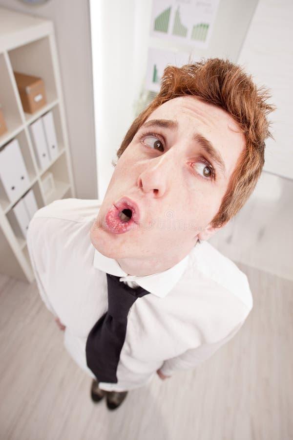 O UH OH diz o caixeiro culpado fotos de stock royalty free
