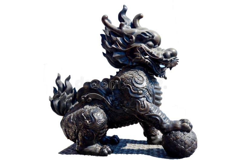 o unicórnio Dragão-dirigido chamou o qilin ou o kylin imagem de stock royalty free