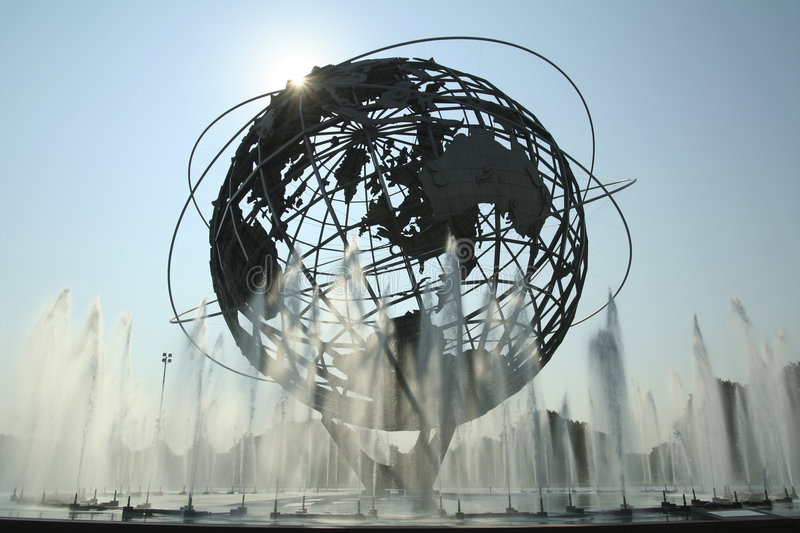 O Unisphere em New York foto de stock