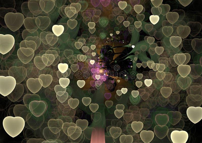 O universo do amor - ilustração colorida abstrata da forma 3D ilustração stock