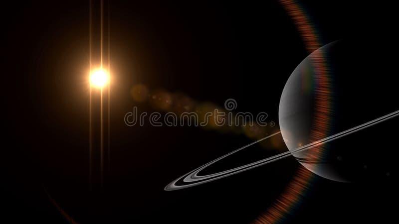O universo toda a matéria e espaço existentes considerou no conjunto o cosmos ilustração royalty free