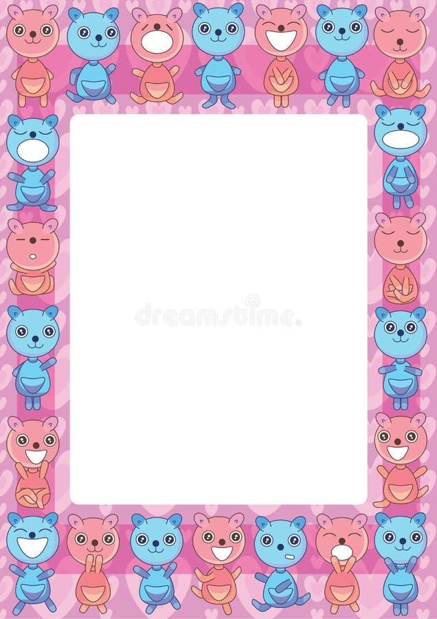 O urso agrupa Frame_eps ilustração stock