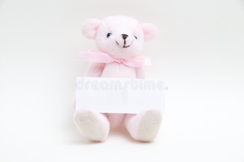 O urso cor-de-rosa imagem de stock