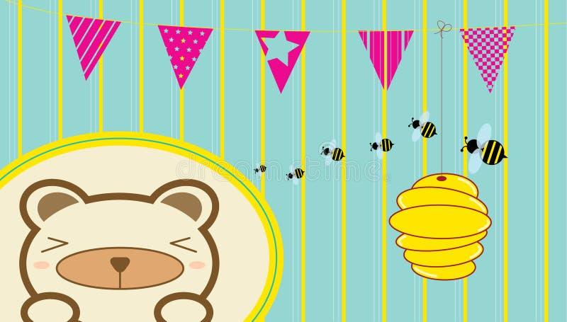 O urso e as abelhas imagem de stock royalty free