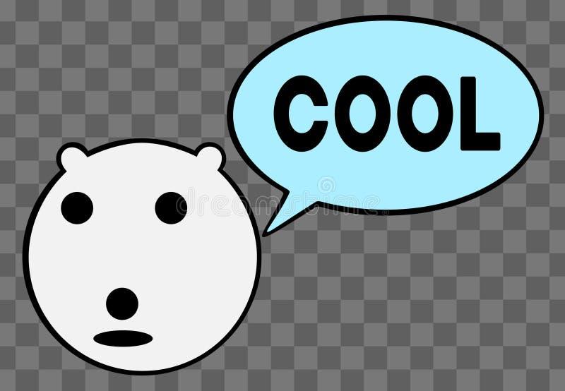 O urso polar diz o logotipo fresco - ilustração do vetor ilustração do vetor