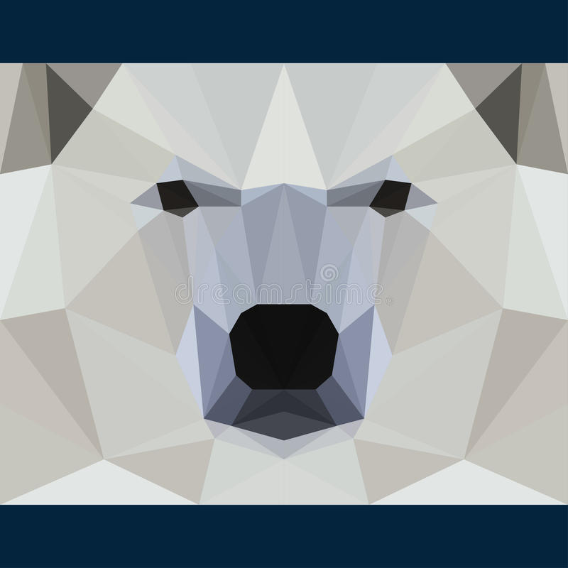 O urso selvagem olha fixamente para a frente Natureza e fundo do tema da vida de animais Ilustração poligonal geométrica abstrata ilustração stock