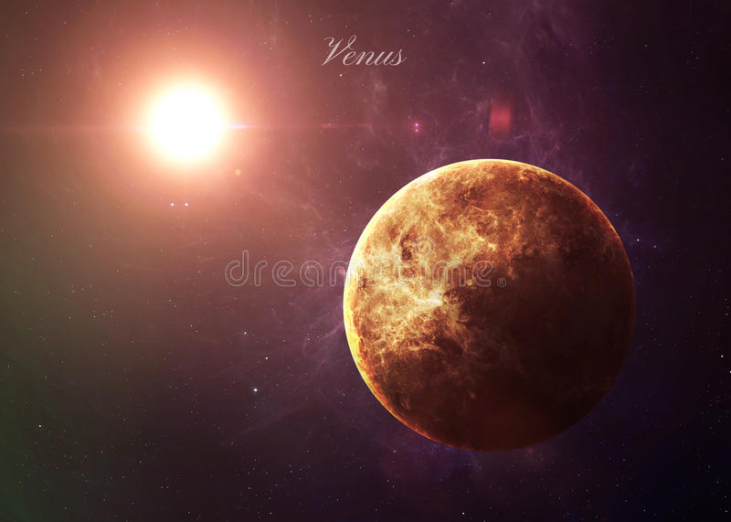 O Vênus do espaço que mostra a tudo os beleza imagem de stock royalty free