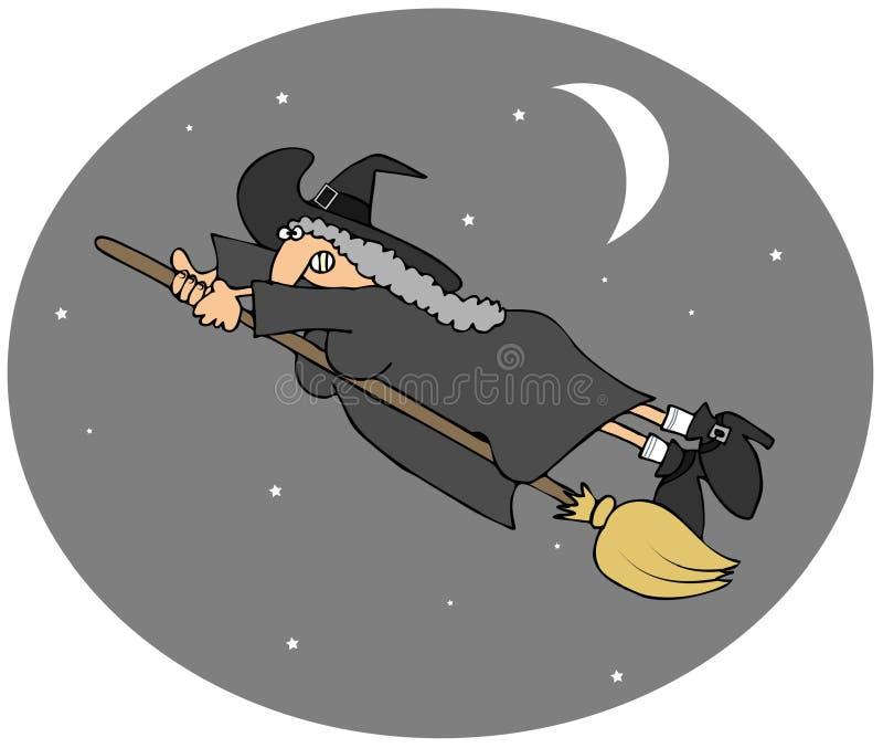 O vôo da bruxa jejua ilustração do vetor