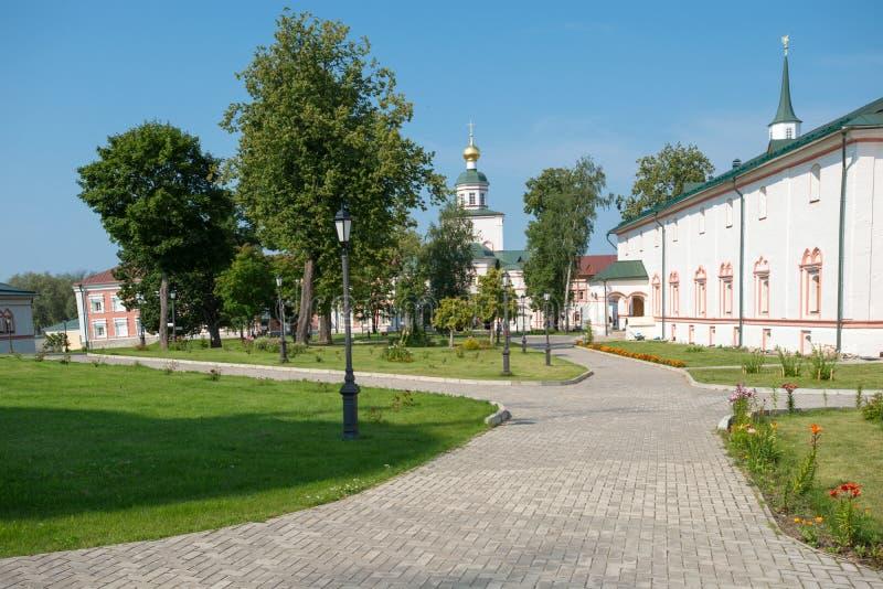 O Valdai Iver Svyatoozersky Virgin Monastery Igreja do Ep foto de stock royalty free