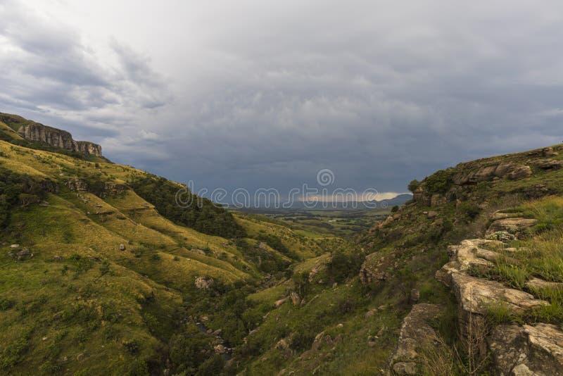 O vale abre na meseta aberta fotos de stock