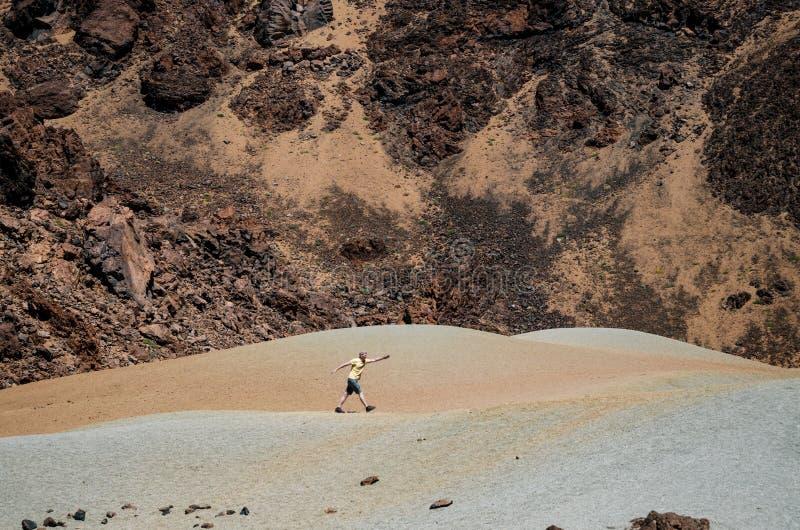 O vale da cratera do vulcão de Teide, Tenerife, canário fotografia de stock royalty free