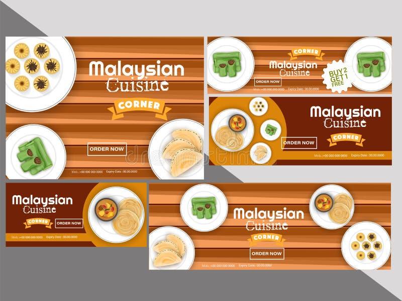 O vale da culinária ou o grupo malaio do comprovante com melhor compra 2 do negócio obtêm ilustração do vetor